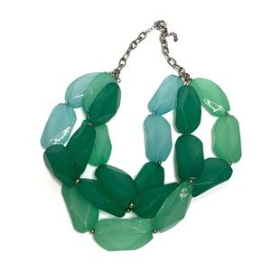 FRANCESCA'S: Green Statement Necklace